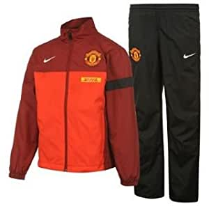 nike surv tement pour gar on sideline manchester united rouge noir blanc xl sports. Black Bedroom Furniture Sets. Home Design Ideas