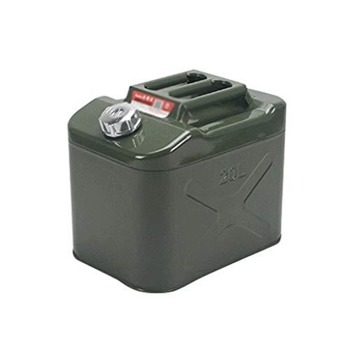 YHFX6Tanica Tanica in Metallo - Barilotto for benzina a prova di esplosione di grande capacità ispessimento 20 litri 10 litri 5 litri Diesel Pot Ferro Serbatoio olio Serbatoio carburante Auto Moto S