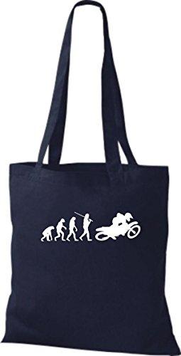 Farbe Biker Biken Stunt Stoffbeutel ShirtInStyle Motorrad Evolution Jute diverse blau Freebike qwwBzR04