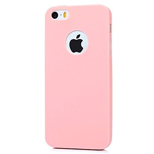 iPhone 5/5S/SE Soft Case iPhone 5/5S/SE Schutzhülle YOKIRIN TPU Silikon Case Cover Handyhülle Candy Farben Hülle Etui Handycase Silikonhülle Protective Shell Handytasche(Mintgrün) Farbe 7