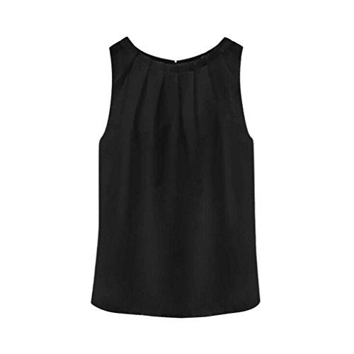 DAYSEVENTH Women Tropical Sexy Fold Sleeveless Chiffon Women Blouses Vest Tops T Shirt