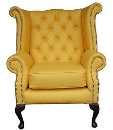 Chesterfield Queen Anne Ohrensessel,