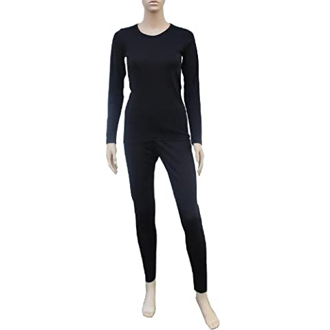 Cox Swain Thermo Women Funktionswäsche Set Hose und Langarm Shirt in bewährter Cox Swain Qualität, Colour: Black, Size: M