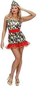 Widmann 59081 Erwachsenen Kostüm Soldatin, Mehrfarbig, -
