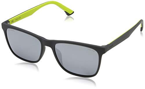 Police Herren SKETCH 1 Sonnenbrille, Grau (Rubberized Grey), 55.0