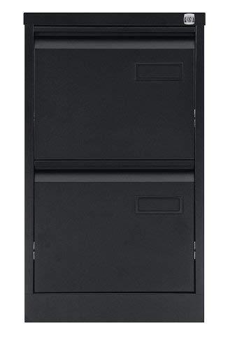 ängeregistraturschrank, einbahnig, DIN A4, 2 HR-Schubladen, Metall, 633 Schwarz, 62.2 x 41.3 x 71.099999999999994 cm ()