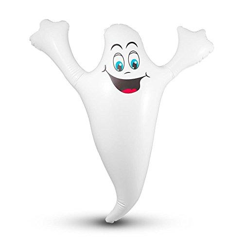 HC-Handel 922273 aufblasbarer Geist Gespenst Gummigeist Gummigespenst 48 x 43 - Halloween-geist Aufblasbare