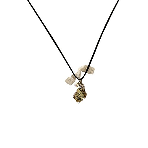 Image of 1x Kette Halskette Lederkette Vintage Lang Damen Modeschmuck Bettelkette Anhänger Perle Herz Schlüssel Buch Motive