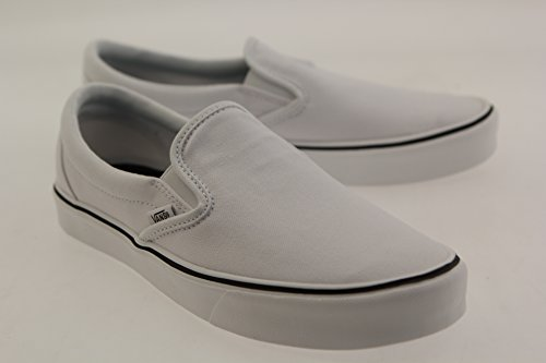 Vans Slip-On Lite Plus, Baskets Basses Mixte Adulte Blanc (Canvas/True White)