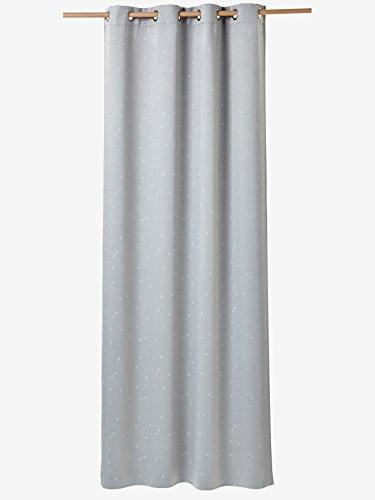 VERTBAUDET Rideau occultant phosphorescent Gris / blanc 135X180