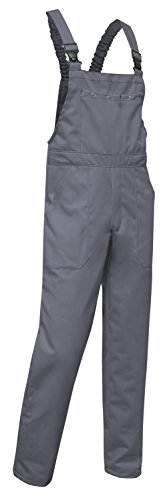 KERMEN - Arbeits-Latzhose Hamburg Kombi-hose 280gm Berufskleidung- Größe: 48, Farbe : Grau