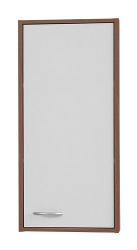 SB-Design Madrid 1 901-001 - Armario de pared (32,5 x 72 x 19 cm), color blanco/ciruelo [Importado de Reino Unido]