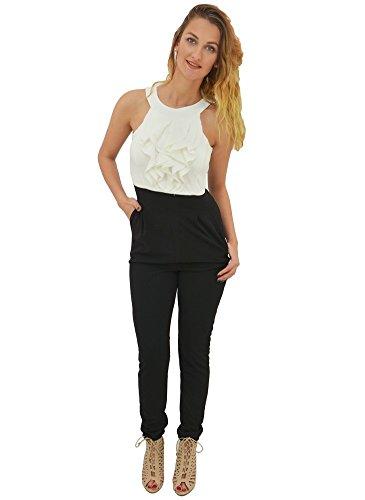 Combinaison Pantalon Froufrou Blanc Blanc