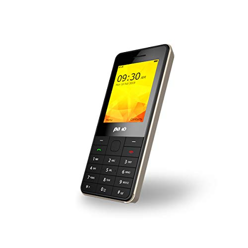 P501 Teléfonos Móviles Libres Moviles Buenos con 2.4 Pulgadas, Doble SIM, Radio, Telefono Movil Basico Teclas con Physical Keyboard, LED Flashlight, Bluetooth, 1750mAh(Oro Negro)