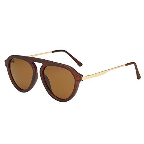 Rosennie Damen Mode Polarisierte Sonnenbrille UV400 Brillen Retro Jahrgang Cat Eye Sonnenbrillen Damen Mode Große Breite Sonnenbrille Sexy Vintage Rahmen Verspiegelt Linse Brillen
