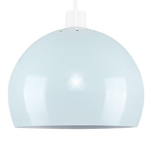 Mini Pantalla Arco MiniSun en Metal Color Azul Clarito Gloss para Lámpara Colgante de Techo Estilo Retro