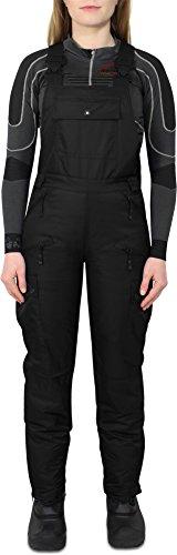 Damen Softshell Ski und Snowboardhose mit Hosenträgern Farbe Schwarz Größe M
