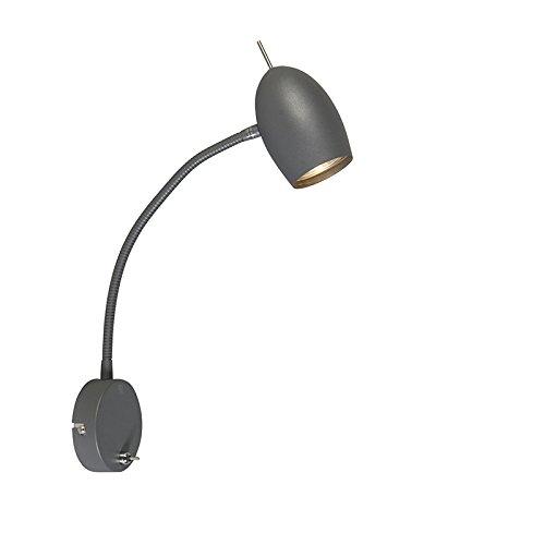 qazqa-applique-con-braccio-flessibile-egg-moderno-metallo-grafite-tondo-adatto-per-led-gu10-max-1-x-