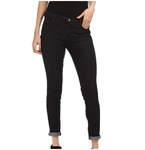EKU Women Oversized Elegant Middle Waist Bodysuit Skinny-Fit Jean