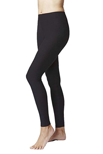 womens-ladies-figure-firming-slimming-compression-sport-waisted-control-plain-gym-leggings-black-xl