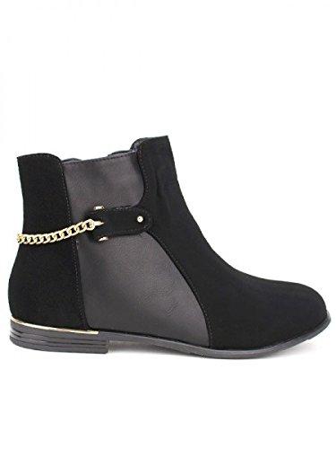 Cendriyon, Bottine noire ROTALINA Mode Chaussures Femme Noir