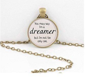 Ohm Lennon Imagine Lyrics You May sagen, ich bin ein Träumer. Lied Gedicht Anhänger Halskette inspiriert von