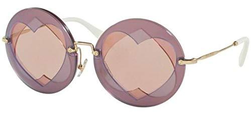 Miu Miu Damen 0MU01SS VA14M2 62 Sonnenbrille, Lilac Pink Gold