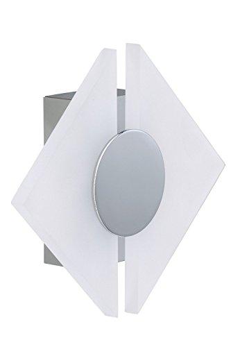 LED Design Wand Leuchte Spiegel Glas Lampe silber Beleuchtung weiß Briloner
