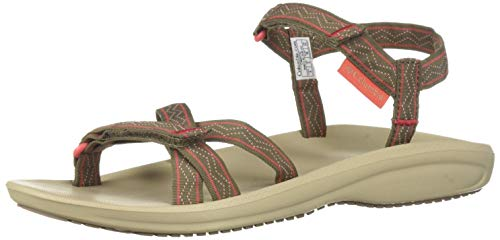 Columbia Wave Train ¢, Sandali da Donna Marrone (Wet Sand, Red Coral 252), 40 EU