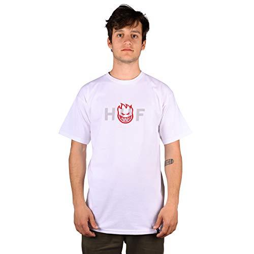 HUF Spitfire Og Logo Short Sleeve T-Shirt X Large White (Spitfire Skateboard-t-shirts)