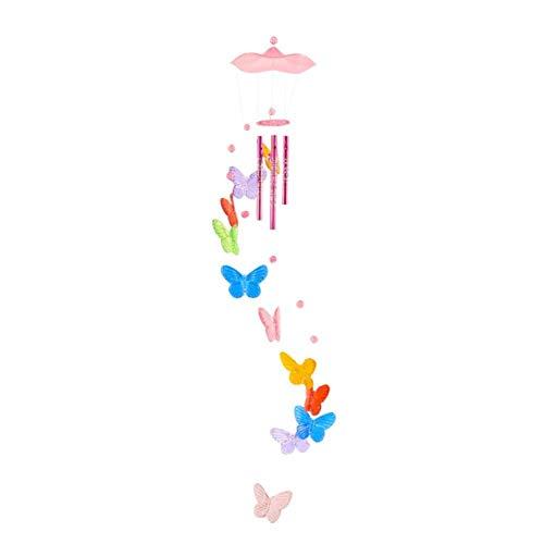 WDDqzf ornament Skulptur Figur Schmetterling Windspiel Glocke Lucky Garden Hängende Dekoration Ornament Geschenk Fügen Sie Bauty Zu Ihrem Leben, Multicolor -
