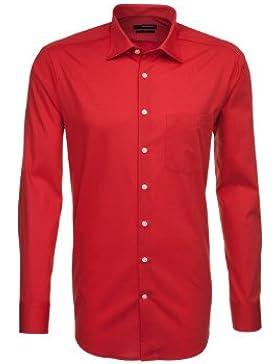 Seidensticker Herren Langarm Hemd UNO Regular Fit rot strukturiert 139030.46