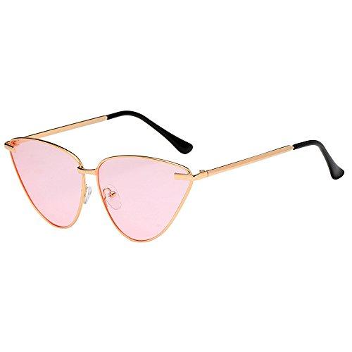 Yezijin_Sunglasses YEZIJINDamen Sonnenbrille, Vintage-Stil, Cateye Rahmen, Acetat-Rahmen, UV-Brille Free Size e