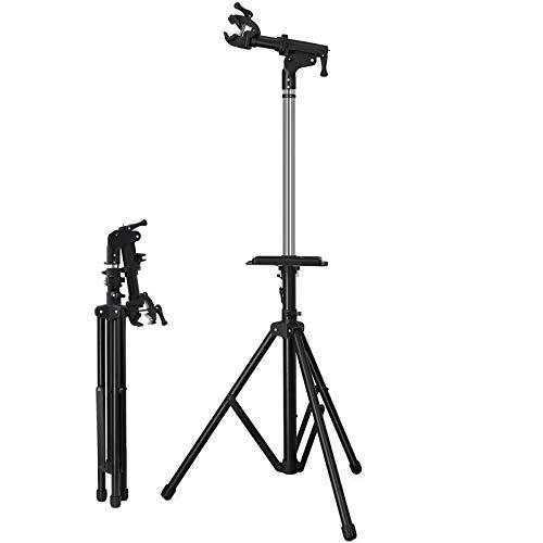 SONGMICS Fahrradmontageständer Reparaturständer mit große Werkzeugablage, Arm aus Aluminiumlegierung, vollen Funktionen für Fahrradreparatur SBR03B