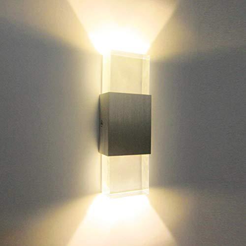 Glighone Apliques de Pared 2 LED 6W Lámpara de Pared Luz Moderna...