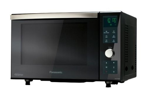 Panasonic NN-DF383BGPG Mikrowelle / 1000 W / 23 L / Sensorautomatikprogramme / Inverterkombi mit Ober- + Unterhitze / schwarz (Mikrowelle Schwarz Backofen Oben)
