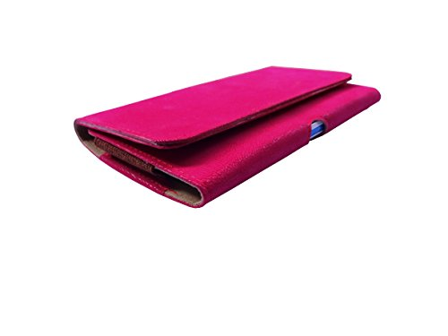 ATV PU Leather PINK Pouch Case Flip Cover For LeEco Le Max 2