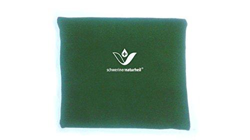 schwerinernaturheil Moor Wärmekissen 22x19 cm mit Fleecebezug in Olivgrün, Wärmflasche, Heizkissen, Wärmekompresse