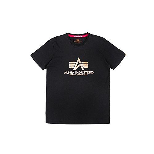 Alpha Industries Basic T-Shirt Schwarz/Gold M