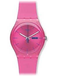Swatch suop700–Armbanduhr Damen, Armband Silikon Farbe pink