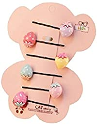 Cute, Fancy Strawberries Hair Pins Set (6 PCs) for Girls Kids/Babies   Strawberry Bobby Pins Set for Girls