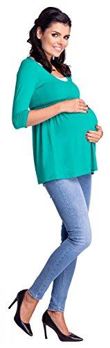 Zeta Ville - Maternité top de grossesse allaitement taille empire - femme - 280c Sarcelle
