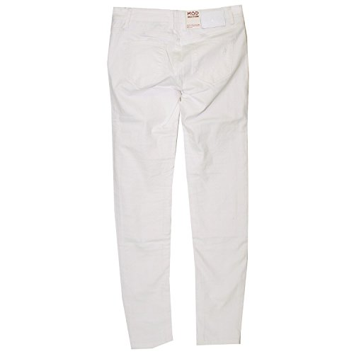 M.O.D Damen Jeanshose Saskia Super Skinny white destroyed