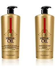 L Oreal Professional Mythic Oil Shampoing et après-shampoing Duo with Pumps for Thick Hair 1000ml...