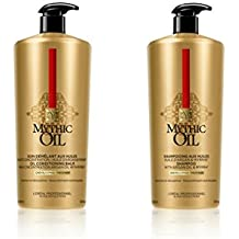 L Oreal Professional Mythic Oil Shampoo and Conditioner Duo with pumps For Thick Hair 1000ml