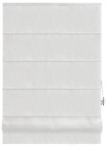 Raffrollo PACIFIC - weiß - 60x160 cm   Raffgardine mit Klemmträger