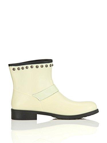 DIESEL - Bottes de pluie pour femme STUD-ME Ecru (Transparent Yellow T2095)