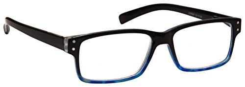 Die Lesebrille Company blau schwarz Wayfarer Stil Herren Damen + 3,00