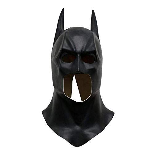 Wbdd Maske Batman Masken Realistische Halloween Voller Gesicht Latex Batman Muster Maske Kostüm Party Masken Karneval Cosplay Requisiten (X-men Tier Kostüm)
