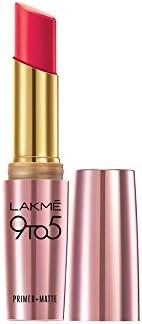 Lakme 9 to 5 Primer Matte Lip Color, Ruby Rush MR20, 3.6g